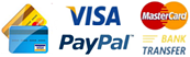 We accept payment through PayPal and via Bank Transfer.