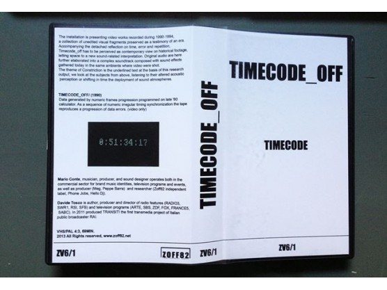 "V.A ""Timecode_Off"" cover"