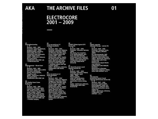 "Electrocore ""The Archive Files 2001-2009"" cover"