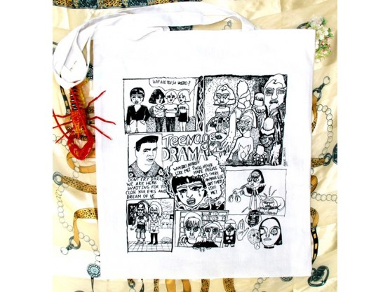 "Ainize Sarasola ""Teenage Drama Tote Bag"" 2"