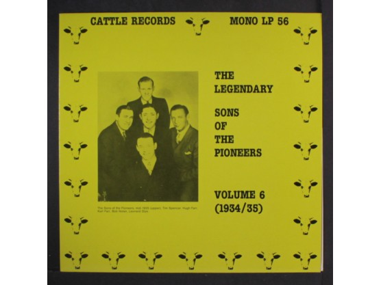 """""""The Legendary Sons Of The Pioneers Volume 6"""" Cov"""